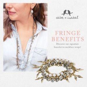 C+I Aventine Fringe Multi-Wrap Bracelet Necklace